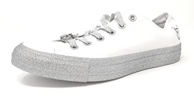 1fcf5252560d ... denmark converse womens x miley cyrus chuck taylor all star lo sneaker  white pure platinum 673cd ...