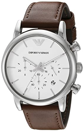 Amazon.com: Emporio Armani Men's AR1846 Dress Brown Leather Watch: Emporio  Armani: Watches