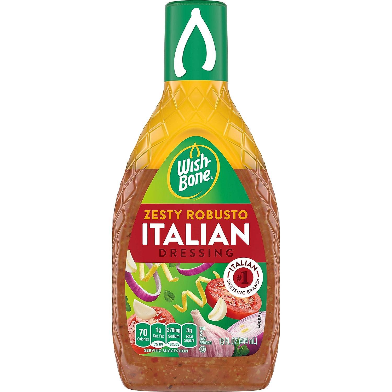 Amazon Com Wish Bone Salad Dressing Zesty Robusto Italian 15 Oz Grocery Gourmet Food