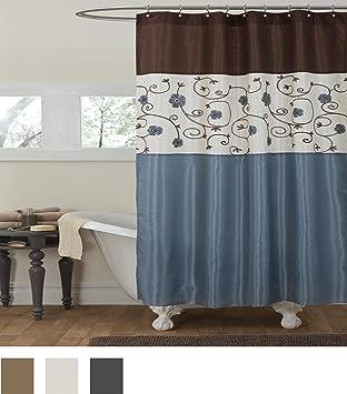 royal blue shower curtain. Lush Decor Royal Garden Shower Curtain  72 X Inches Blue Amazon com