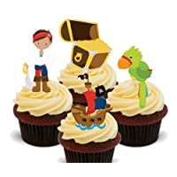 Piratas, colourful Kids – decoración para tarta para comestible stand-up Cupcake de