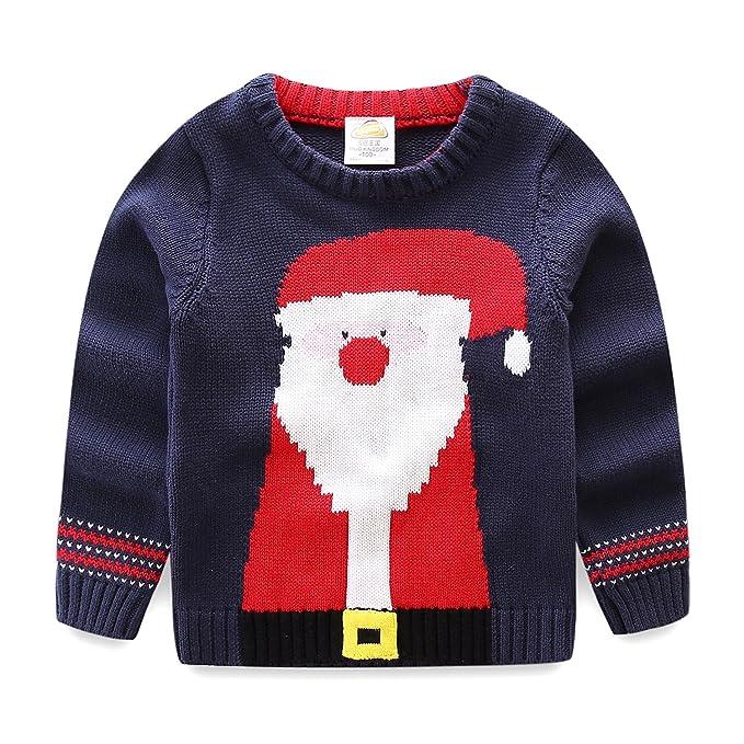 Amazon.com: Barro Reino de los niños de Papá Noel Suéter ...