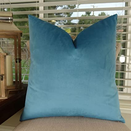 Beau Thomas Collection Luxury Teal Throw Pillow For Couch, Peacock Blue Sofa  Pillow, Dark Turquoise