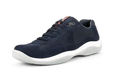 Prada Men s  America s Cup  Suede with Mesh Sneaker 33a4b795d9b2