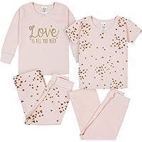 Gerber Baby Girls' 4-Piece Pajama Set