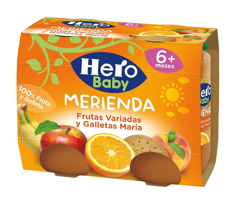 Hero Baby Merienda Frutas Variadas y Galletas María - Pack de 2 x 190 g - Total: 380 g: Amazon.es: Amazon Pantry