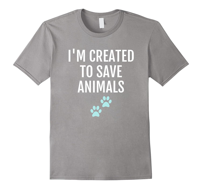 Save Animals Veterinary Shirt, Cute Vet Pawprint Gift
