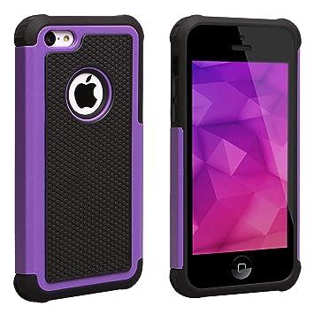 SCIMIN] iPhone 5C caso, armadura resistente Carcasa de doble ...