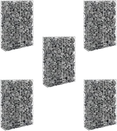 Gabbioni in pietra // Muro di pietra // Parete in pietra // Spalliera // Pacchetto risparmio 5 gabbioni pro.tec 150 x 100 x 30cm