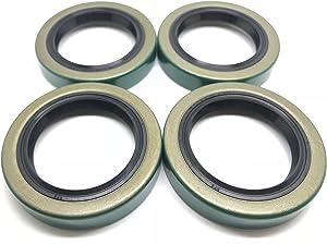 WPS (Pack of 4) (TM) Trailer Hub Wheel Grease Seal 10-19 171255TB 1.719'' X 2.565'' for 3500# E-Z Lube Axles