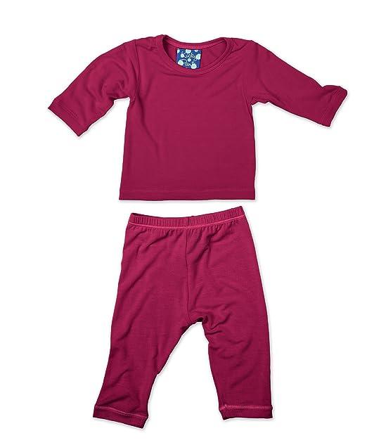 Amazon.com: Kickee Pantalones Pijama De Manga Larga Set ...