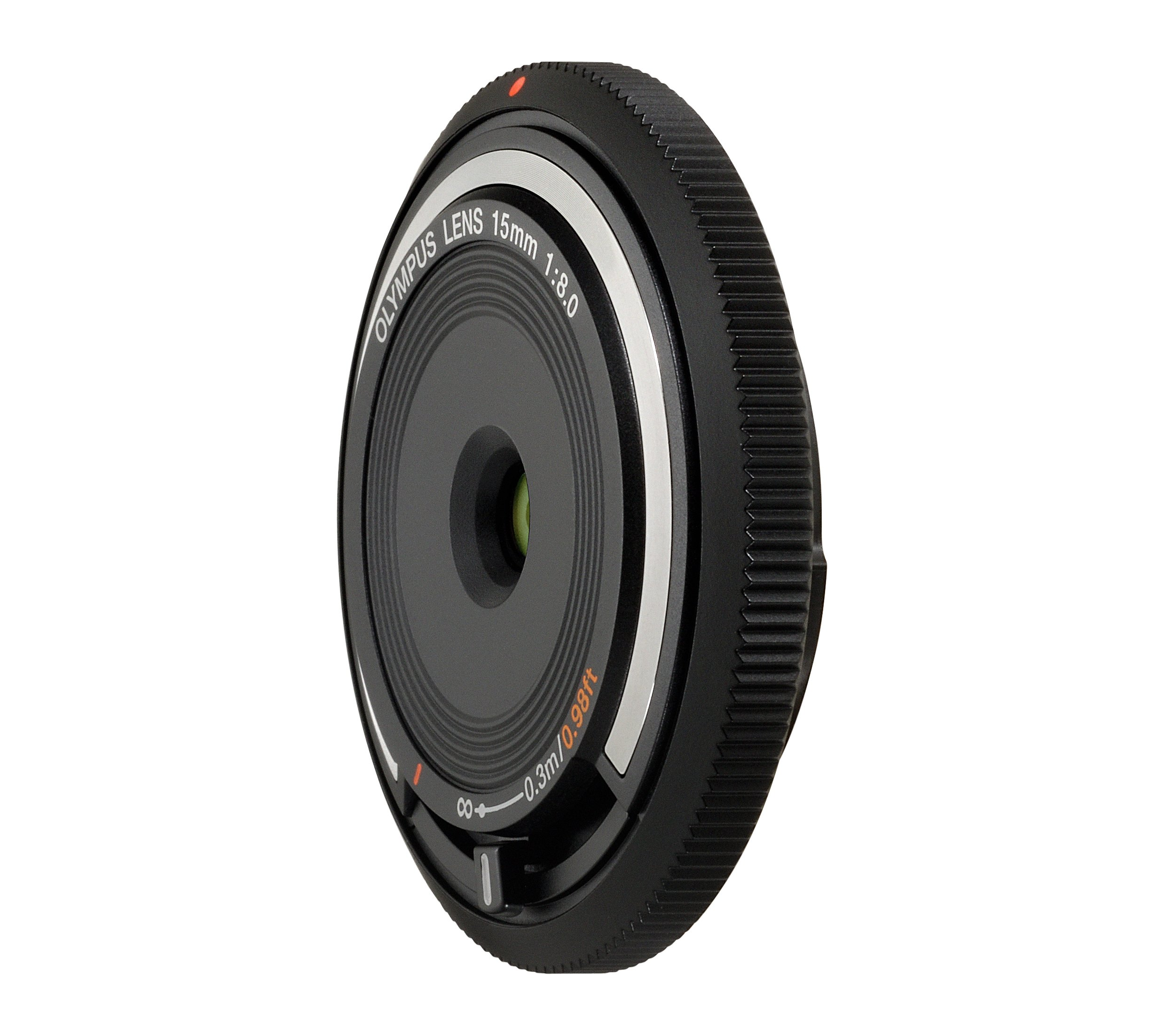 Olympus BCL-15mm f8.0 Body Lens Cap for Olympus/Panasonic Micro 4/3 Cameras (Black) - International Version (No Warranty)