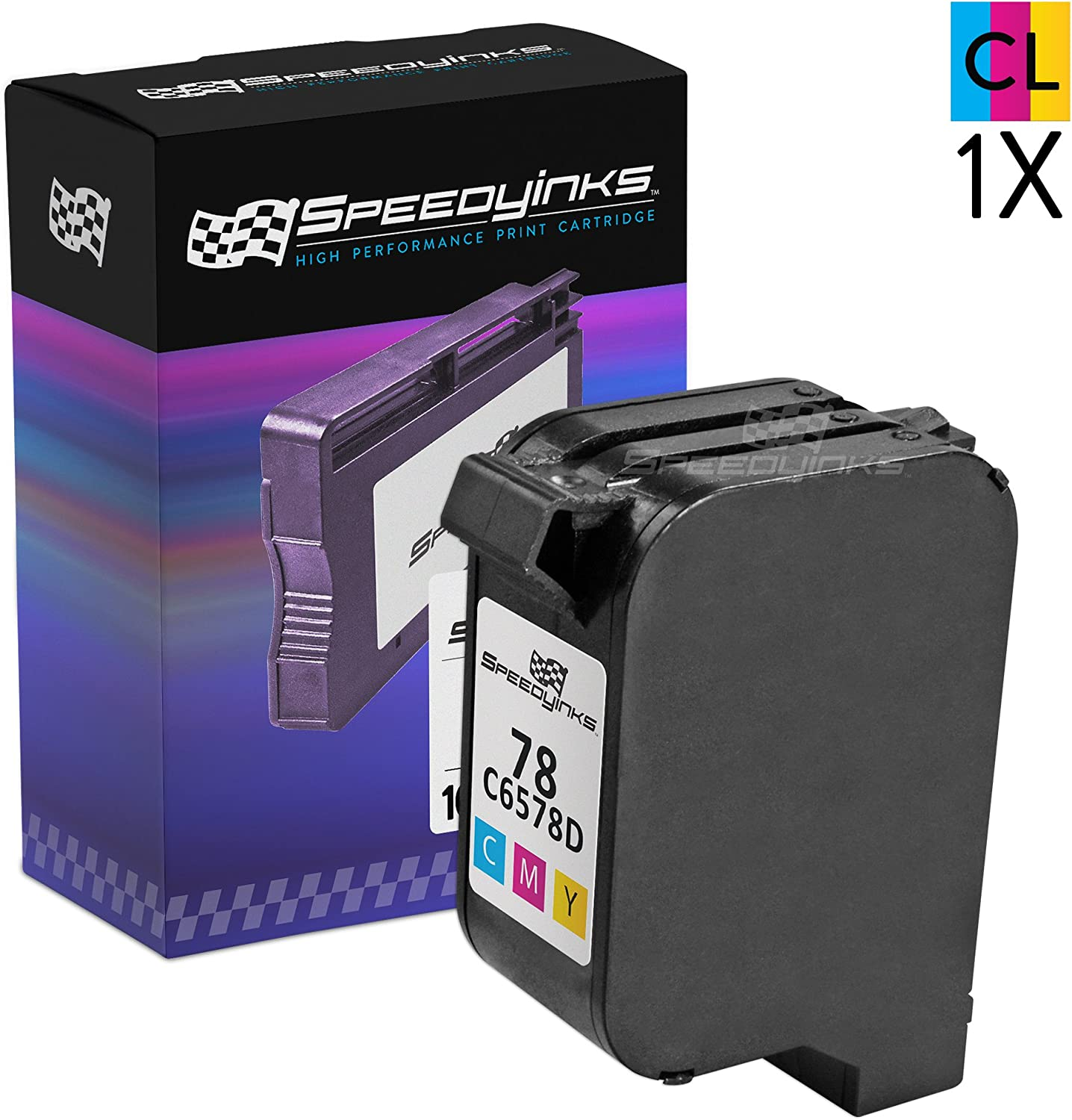 Speedy Inks Remanufactured Ink Cartridge Replacement for HP 78 C6578D (Tri-Color)