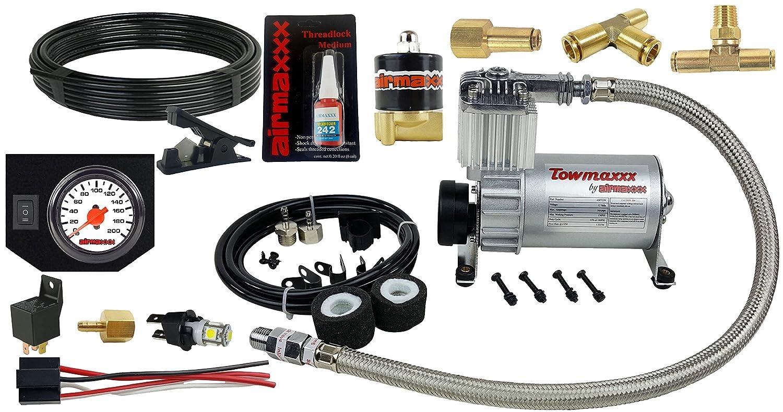 airmaxxx más de carga kit de remolque tanque de aire compresor y manómetro de color blanco: Amazon.es: Coche y moto