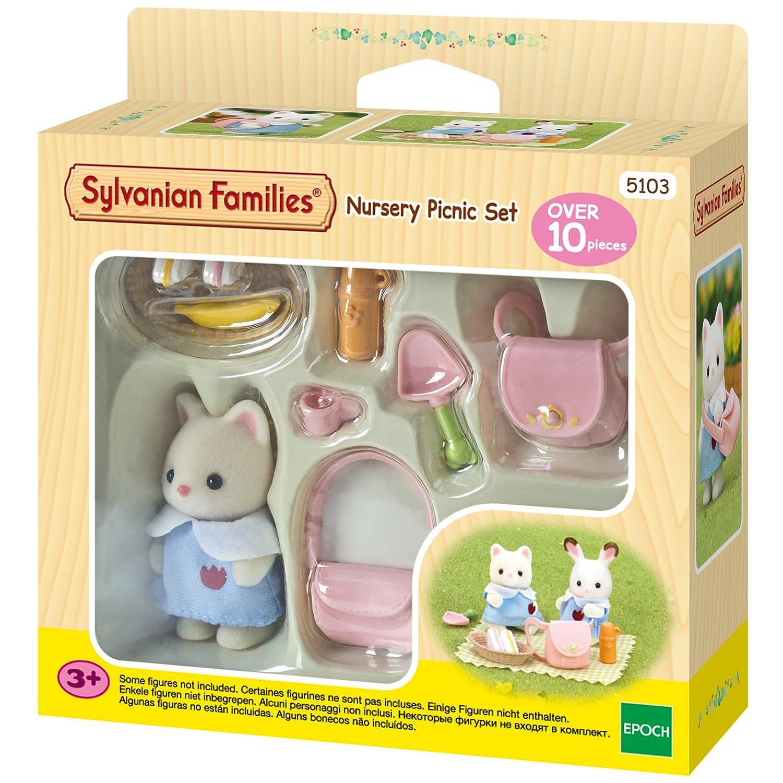 Amazon.es: SYLVANIAN FAMILIES Nursery Picnic Set Mini muñecas y Accesorios Epoch para Imaginar 5103: Juguetes y juegos