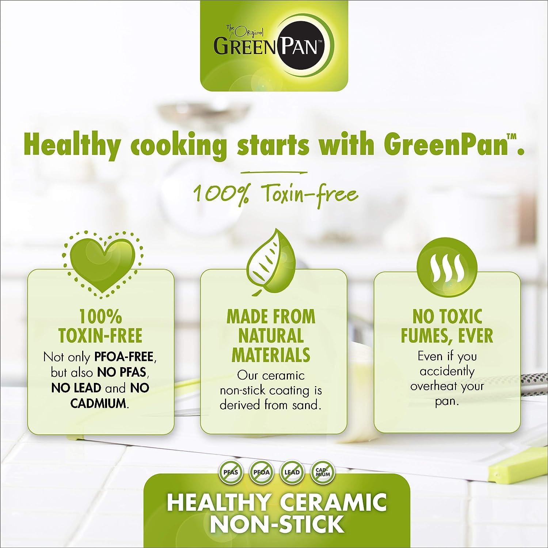 8 /& 10 gris GreenPan Frypan Set