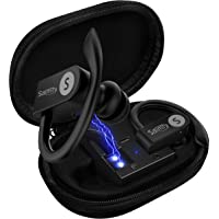 Bluetooth 5.0 [Upgraded] Wireless Earbuds with Charging Case 8-10H Playtime Wireless Earphones IPX8 Waterproof CVC Noise-Cancelling Headphones in Ear Built Microphone Headset for Sports, Workout Gym