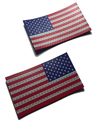 070225c0a69 Image Unavailable. Image not available for. Color  (2 Patch Set) Forward and  Reversed Full Color Us Ir Infrared USA Flag Military