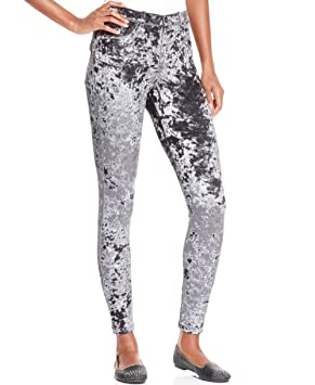 d5e71234721f9 Hue Crushed Velvet Leggings, Black Colour, Pants - Amazon Canada