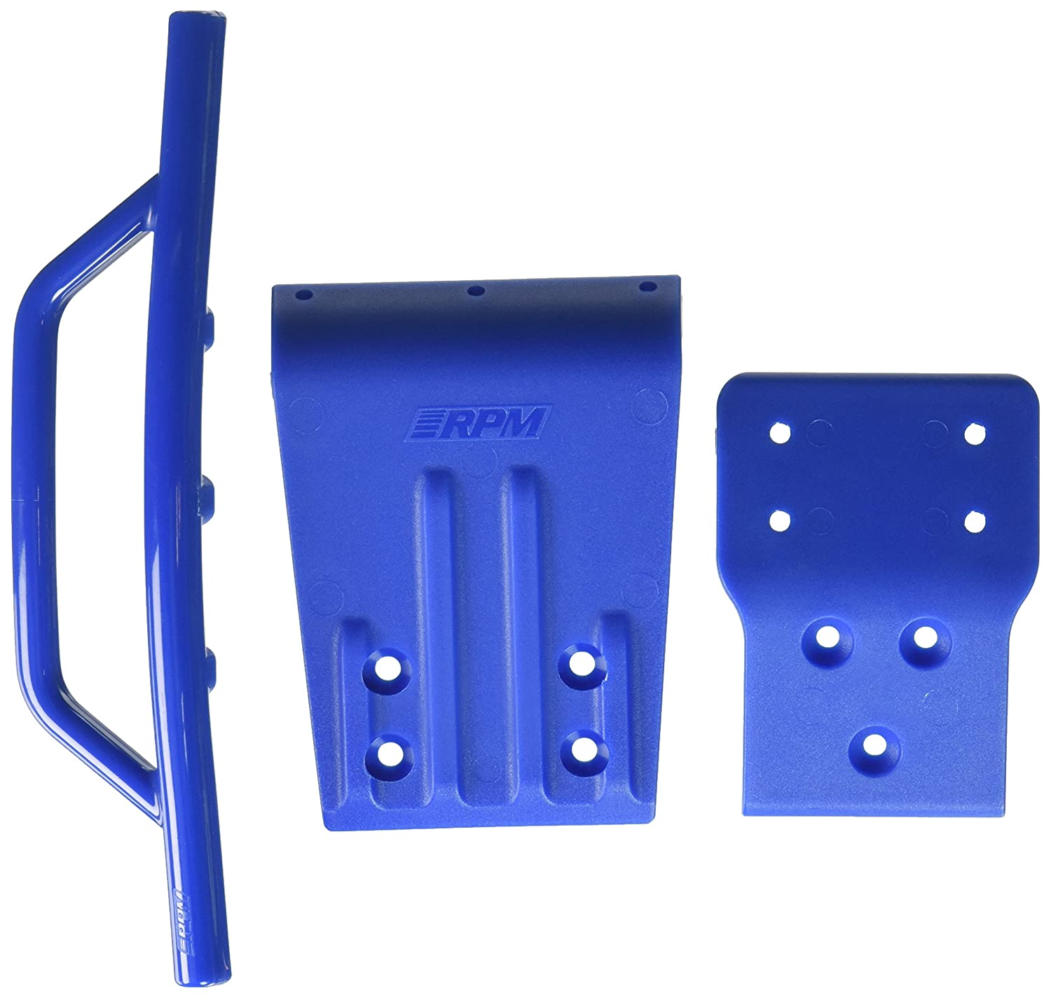 RPM Traxxas Slash 4x4 Front Bumper and Skid Plate, Blue