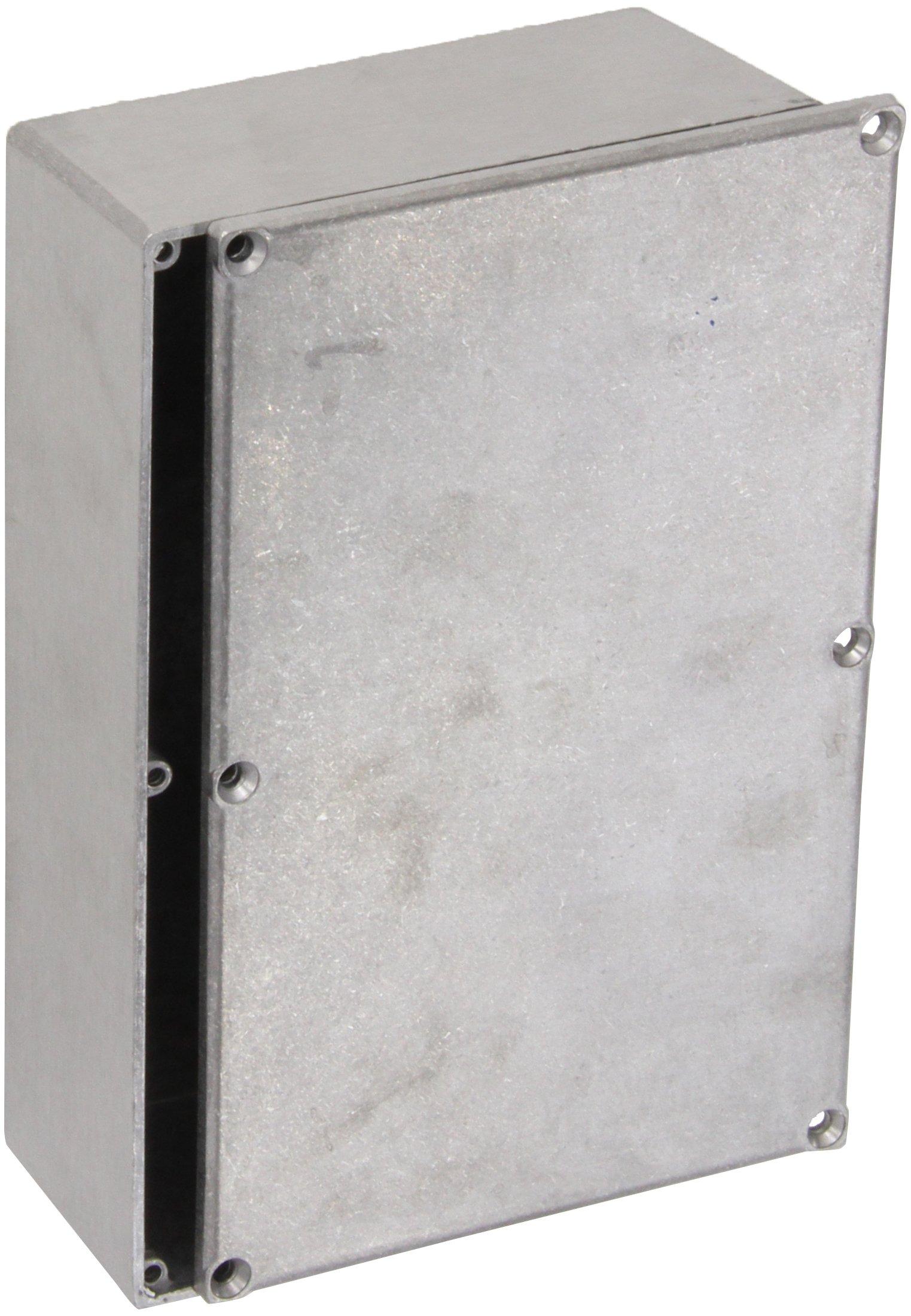 BUD Industries CU-247 Aluminum Econobox, 7-3/8'' Length x 4-11/16'' Width x 2-13/64'' Height, Natural Finish
