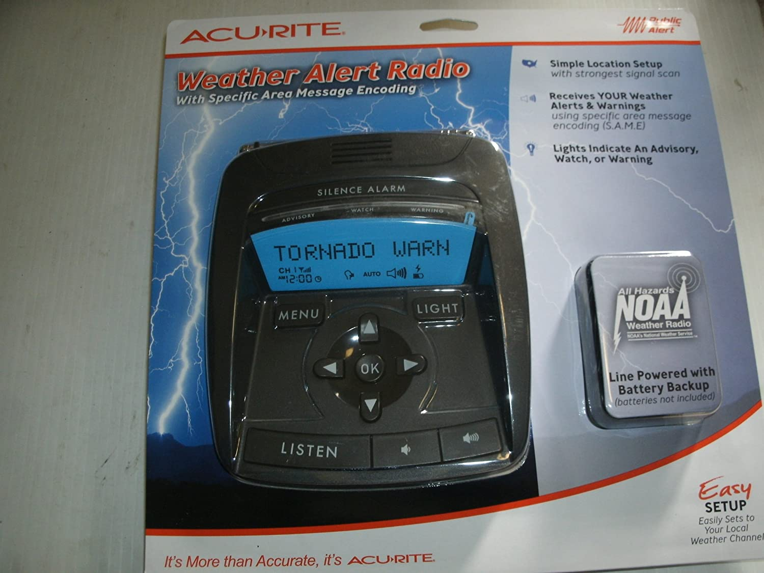 Amazon.com : Acu Rite My Backyard Weather Alert Radio : Weather Stations :  Garden U0026 Outdoor