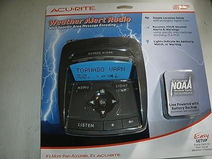 amazon com acu rite my backyard weather alert radio weather rh amazon com  acurite 00250 my backyard weather sportsman forecaster