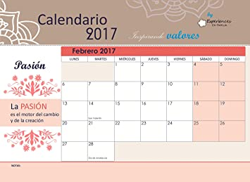 Calendario magnético por meses 2017 (de nevera) planificador familiar Inspirando valores - A4 horizontal: Amazon.es: Oficina y papelería