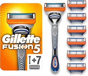 Gillette Fusion5 Razor for Men + 7 Refill Blades with Precision Trimmer