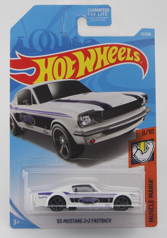 Hot Wheels/'65 Mustang 2+2 Fastback #072 Hot Wheels Muscle Mania #8 de #10 Branco Difícil De Encontrar!!!