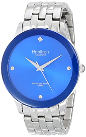 Buy armitron mens 204952blsv stainless steel diamond accented armitron mens 204952blsv stainless steel diamond accented watch fandeluxe Choice Image
