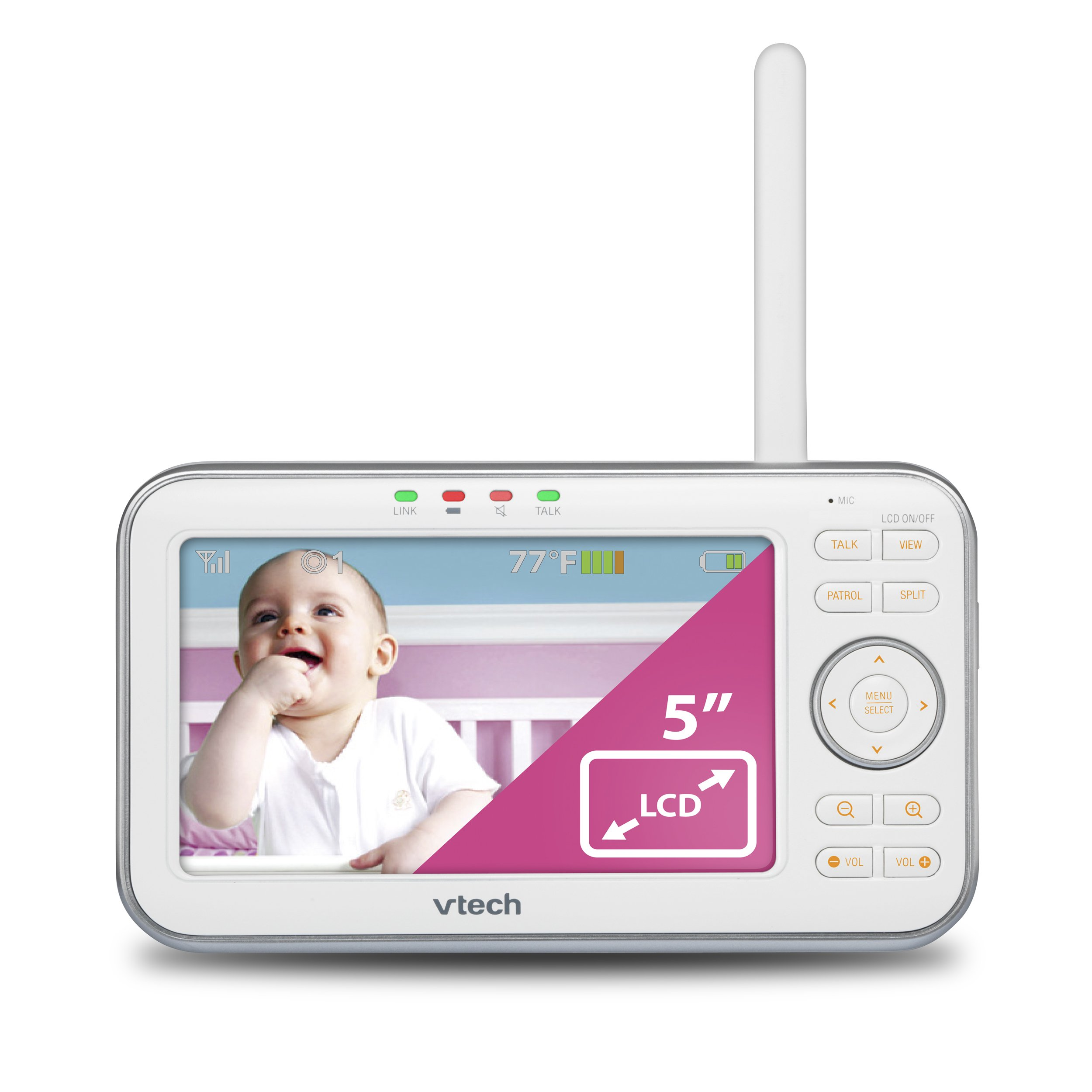 VTech VM5271-2 Video Baby Monitor with 5-inch Screen, Motorized Lens with 6x Optical Zoom, Soothing Sounds & Lullabies, Temperature Sensor & 1,000 feet of Range with 2 Cameras by VTech (Image #12)