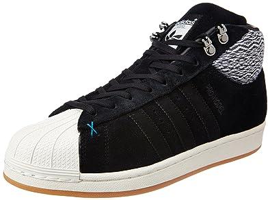 adidas Originals Men's Pro Model Bt Cblack and Owhite Leather Basketball  Shoes - 9 UK/