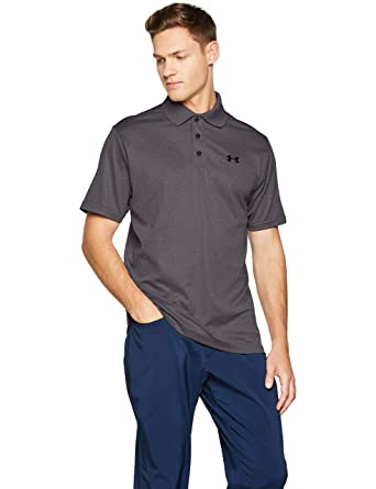 efff55f4e Under Armour Men's Performance Polo, Carbon Heather (090)/Black, X-