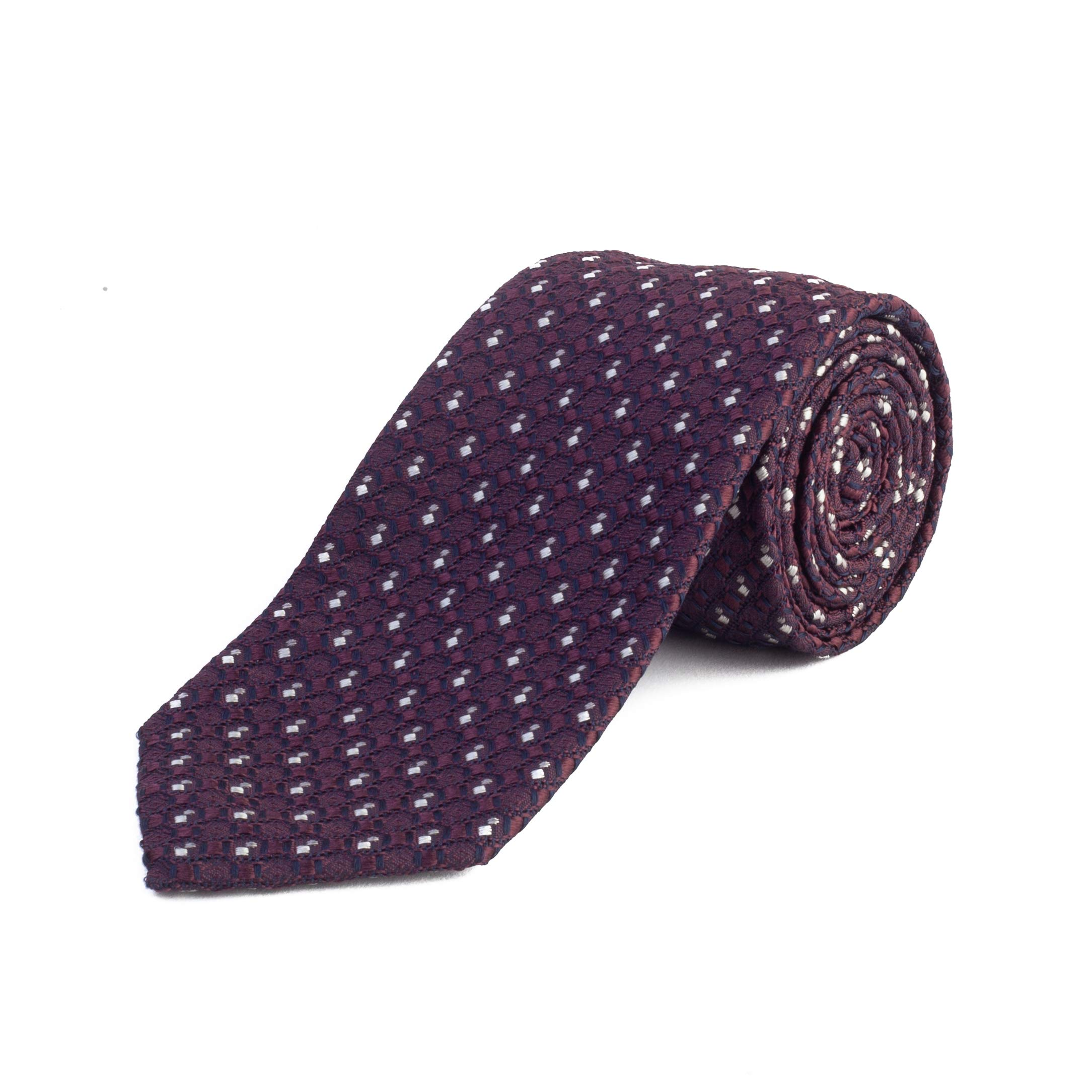 Ermenegildo Zegna Men's Silk Textured Patteren Tie Purple