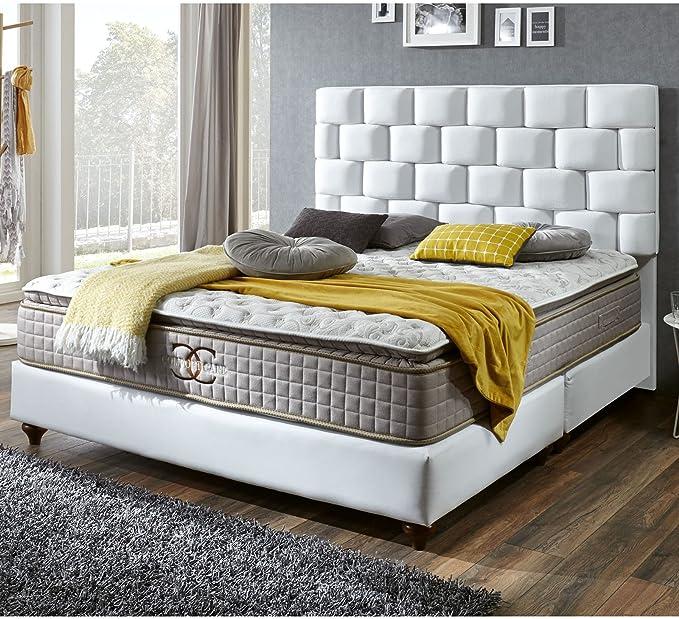 Cama con somier cama 160 x 200 blanco Zürich Hotel cama ...