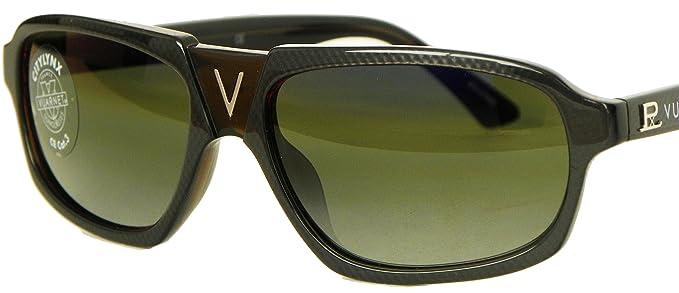 732d99b9129420 Vuarnet 1205 Small V Bridge Sunglasses Skilynx Citylynx Snow Skiing (Grey  Carbon Fiber, Citylynx
