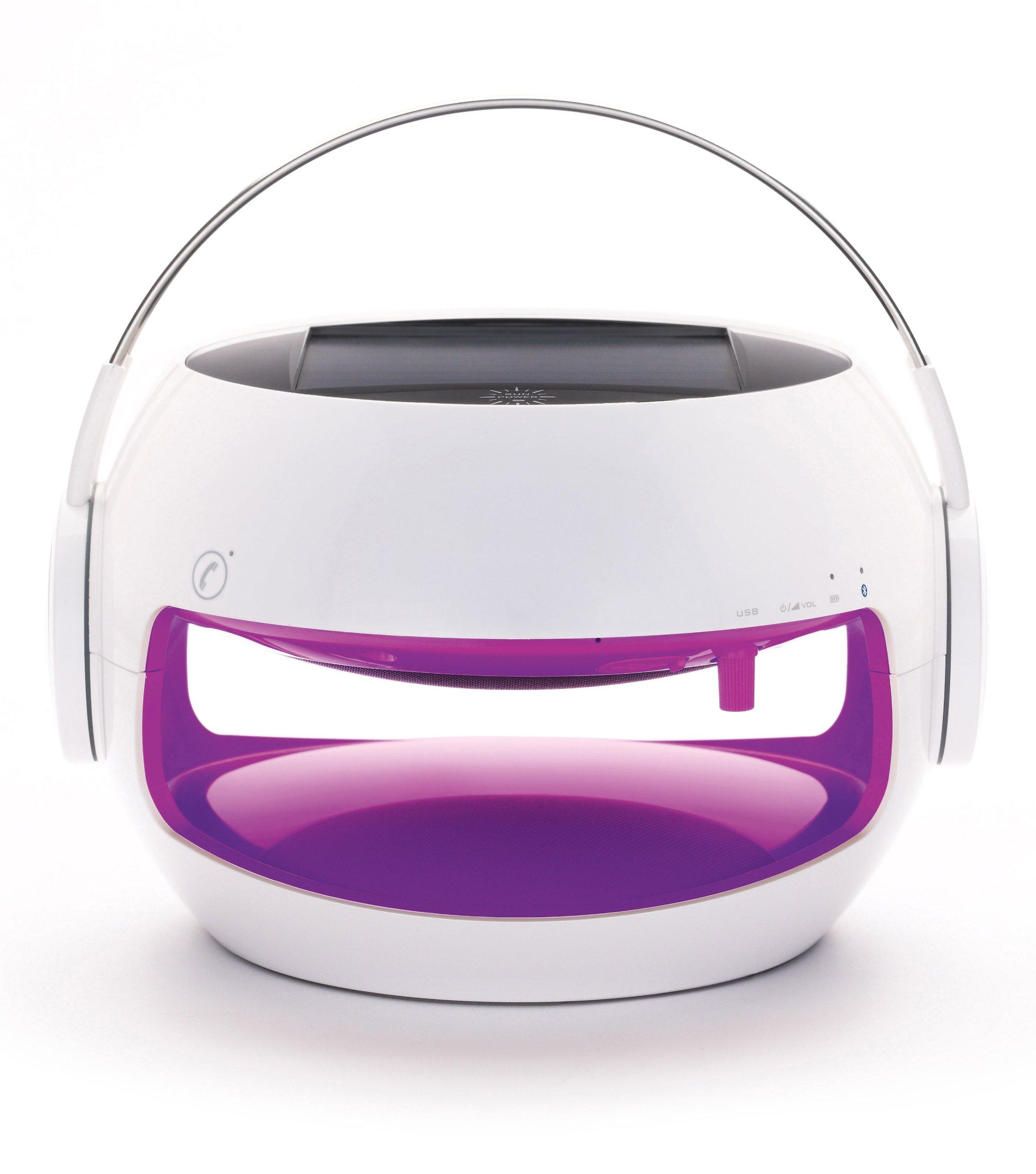 Sierra 0033 Solar Wireless Speaker (Purple)