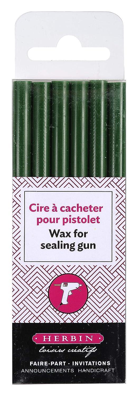 mandelgr/ün J.Herbin 35932T Siegelwachs Schachtel mit 6 stangen hobby f/ür pistole weich