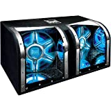 Dual Electronics BP1204 12 inch illumiNITE High Performance Studio Enclosed Car Subwoofers with 1