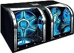 Dual Electronics BP1204 12 inch illumiNITE High Performance Studio Enclosed Car