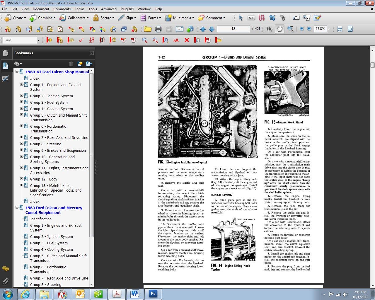 1960-1963 Ford Falcon Shop Manual: Ford Motor Company, David E. LeBlanc:  9781603711814: Amazon.com: Books