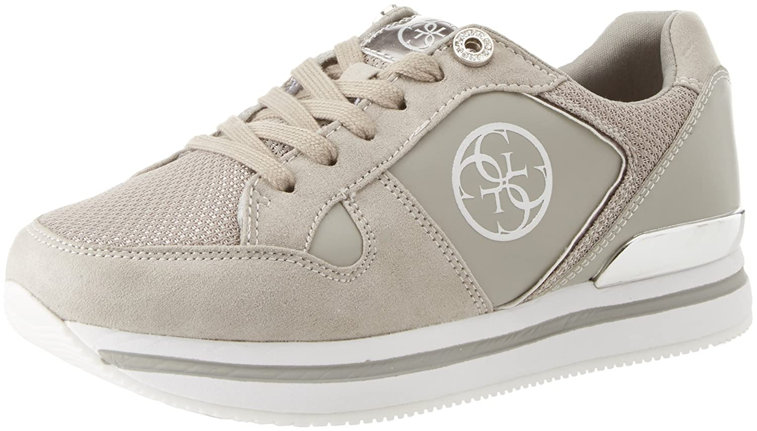 Guess Footwear Active Lady, Zapatillas para Mujer 36 EU|Grigio (Light Gray)