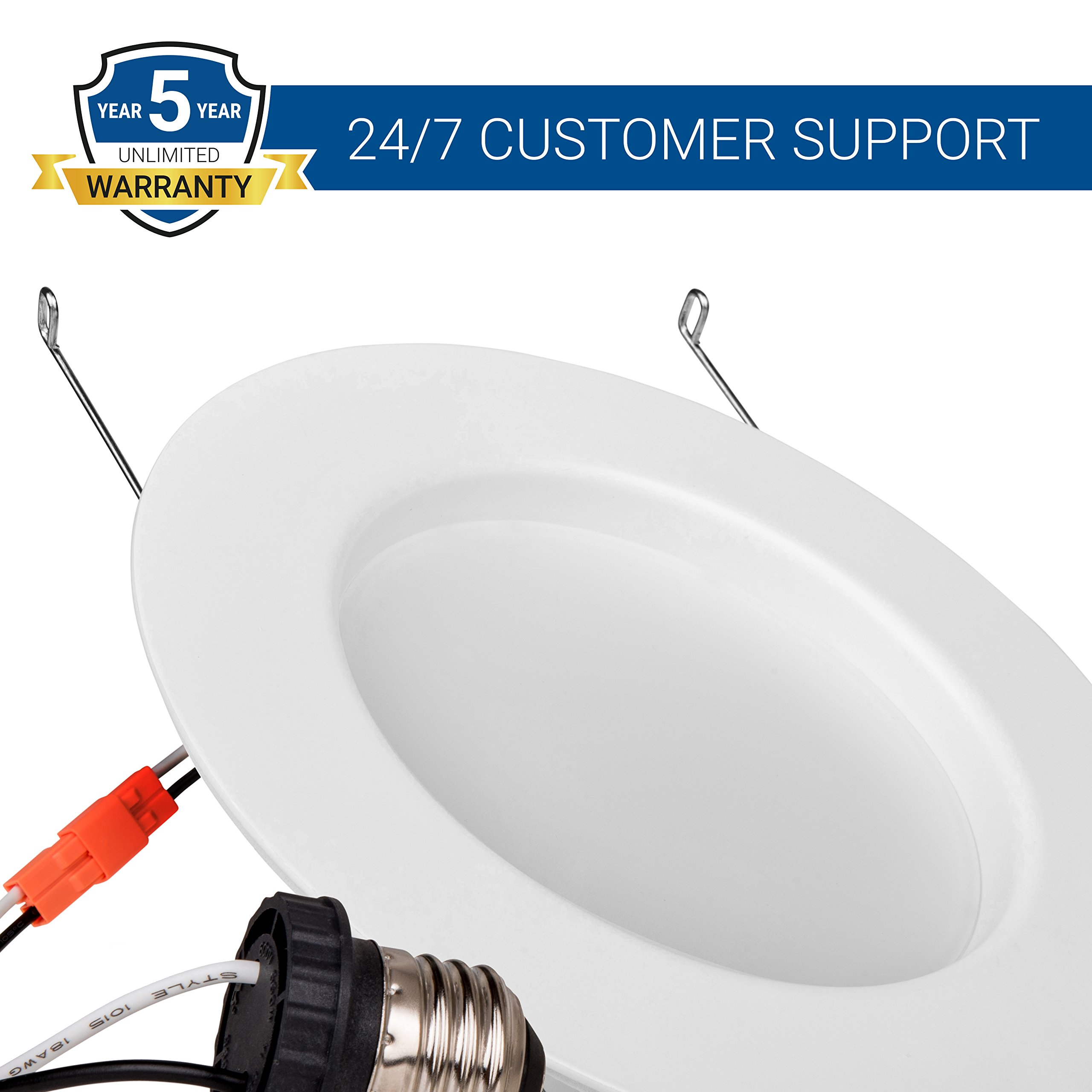 Hyperikon 6 Inch Led Downlight 5 Inch Compatible Dimmable 14w