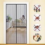 Fliegengitter Tür Insektenschutz Magnet Fliegenvorhang 90*210   110*220 - Klebmontage ohne Bohren - Vorhang für Balkontür Wohnzimmer Schiebetür Terrassentür