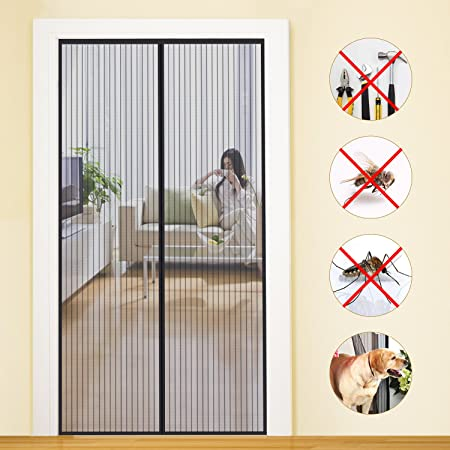 Beau MYCARBON Magnetic Screen Door KEEP INSECTS OUT Mosquito Door  Screen,Top To Bottom