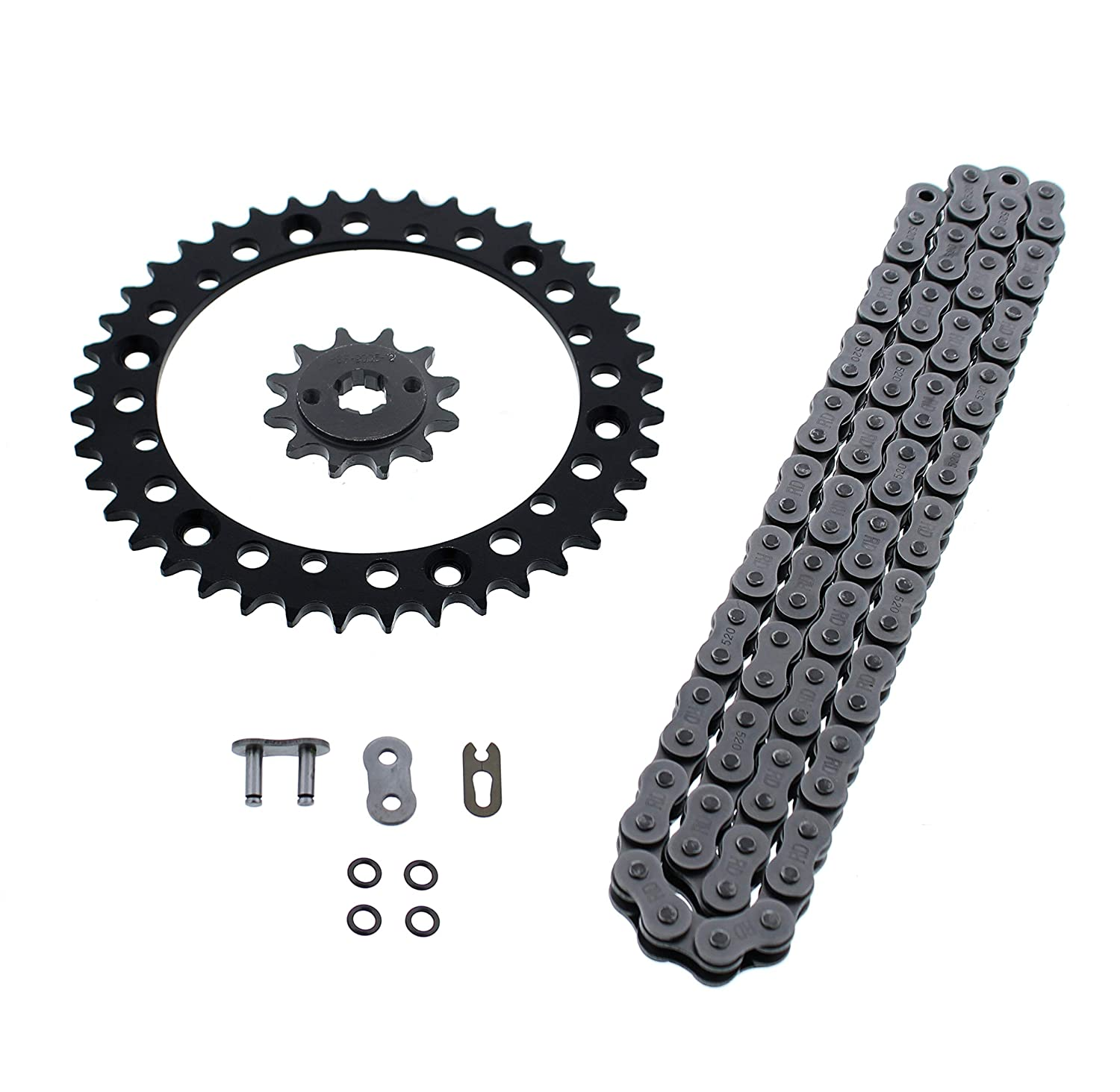 1988-2006 Yamaha 200 Blaster YFS200 O Ring Chain and Sprocket Silver 12//40 92L