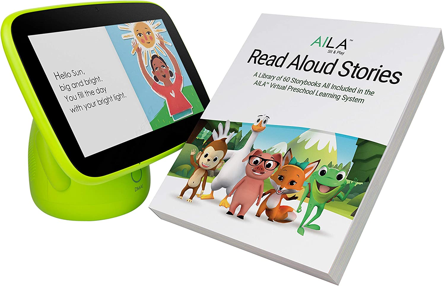 ANIMAL ISLAND Aila Sit & Play Plus Read Aloud Stories All Included Virtual Preschool Learning Systemfor Toddlers Mom's Choice Gold AwardLetters, Numbers, Stories and Songs Best Baby Gift
