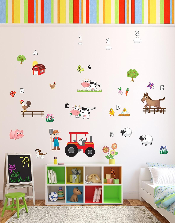 Fun U0027Old MacDonald Had A Farmu0027 Animals Nursery Rhyme Wall Stickers / Wall  Decals Part 95