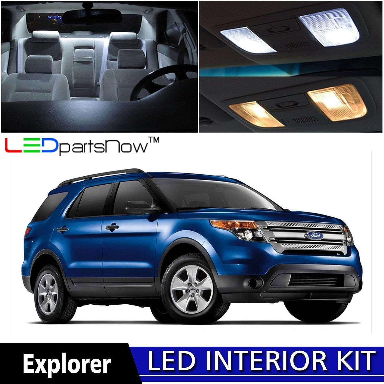 Amazon.com: LEDpartsNow 2015 2017 Ford Explorer LED Interior Lights  Accessories Replacement Package Kit (11 Pieces), WHITE: Automotive